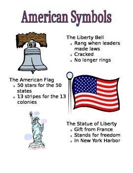 American Symbols Poster and Graphic Organizer