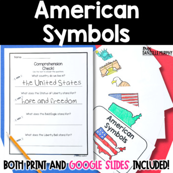 American Symbols Reader and Comprehension Check (President's Day)