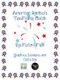 American Symbols Ten Frame Match