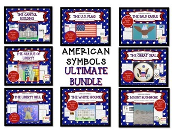 American Symbols-The ULTIMATE BUNDLE- 8 Nonfiction Texts &