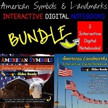American Symbols & Landmarks Interactive DIGITAL Notebook
