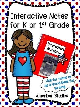 American Symbols - interactive journal / vocabulary word b