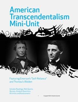 American Transcendentalism Mini-Unit