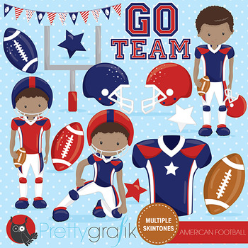 American football clipart commercial use, vector graphics,
