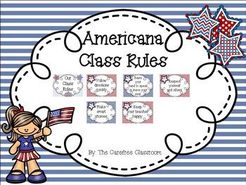 Americana Theme Class Rules