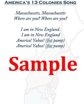 America's 13 Colonies Song