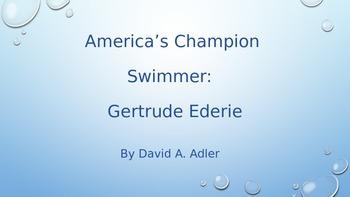 America's Champion Swimmer:  Gertrude Ederke