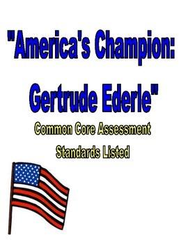 America's Champion Swimmer: Gertrude Ederle Assessment Rea