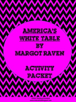 America's White Table Activity Packet