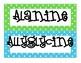 Amino Acid Word Wall