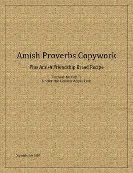 Amish Proverbs Copywork:  Handwriting Reinforcement