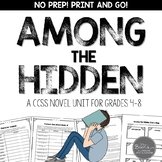 Among the Hidden Novel Unit for Grades 4-8 CCSS Aligned