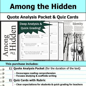 Among the Hidden - Quote Analysis & Reading Quizzes