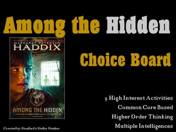 Among the Hidden Shadow Children Choice Board Tic Tac Toe
