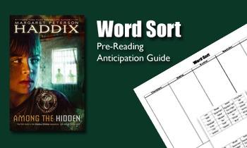 Among the Hidden - Word Sort
