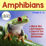 Amphibians Warm Ups and Interactive Notebook Pages