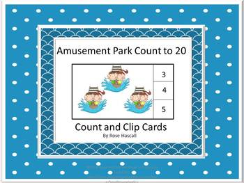 Task Cards.Math Counting Amusement Park Counting to 20 Spe