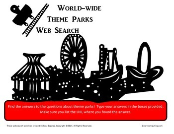 Amusement, theme parks online web search fillable PDF