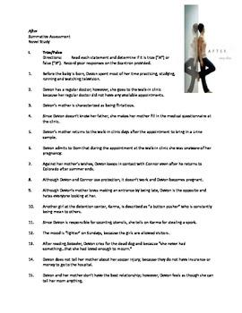 Efaw's After (Novel Study Assessment)