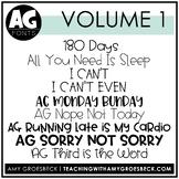 Amy Groesbeck Fonts: Volume One