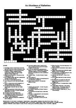 An Abundance of Katherines - Crossword Puzzle