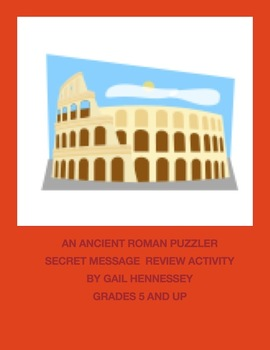 An Ancient Roman Puzzler: Secret Message Review Activity