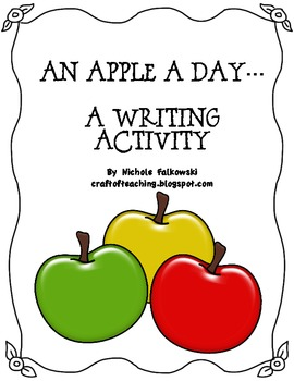 An Apple A Day Writing Activity
