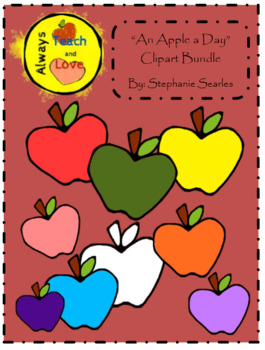 An Apple a Day Clipart Bundle