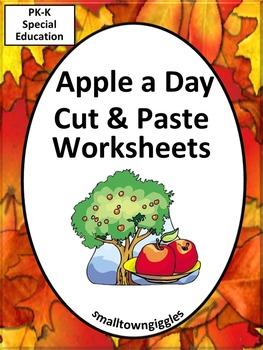Johnny Appleseed Apples Kindergarten Math & Literacy Cut &