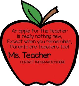 An Apple for Teacher - Fill In