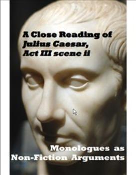 "An Argument Analysis of Julius Caesar Act 3 Scene 2 - ""Fri"