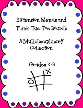 Differentiated Instruction-Common Core Aligned Choice Boar