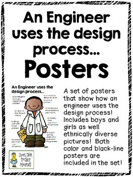 An Engineer Uses the Design Process...Color and Black & Wh