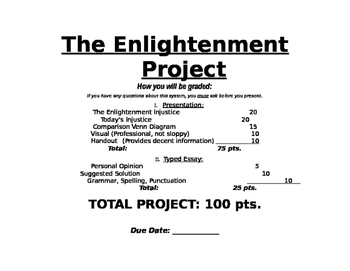 An Enlightenment Project