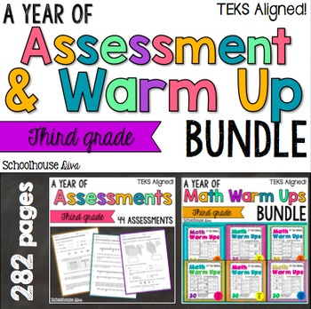 TEKS Math Assessments and Warm Ups 3rd Grade