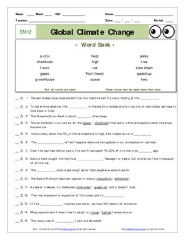 climate change worksheet free worksheets library download and print worksheets free on. Black Bedroom Furniture Sets. Home Design Ideas