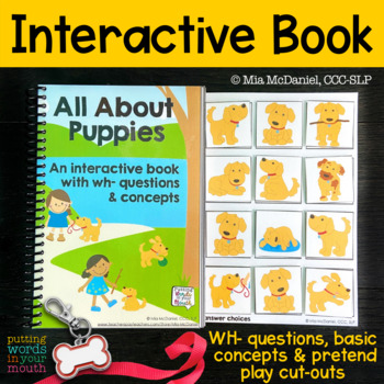 An INTERACTIVE book All About Puppies! {with concepts & WH