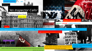 An Inspector Calls, English Language study, CONTEXT Unit (
