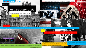 An Inspector Calls,  English Literature Study, CONTEXT Uni