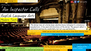 An Inspector Calls, Phase 7: Recriminations. Reading Unit.