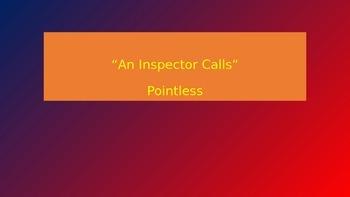 An Inspector Calls - Pointless Quiz (TV Show)