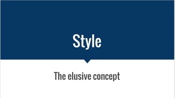 Style: An Introduction to Author's Style