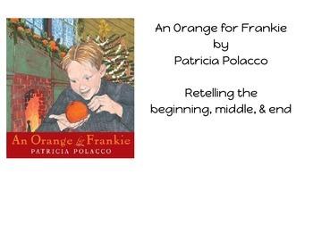 An Orange For Frankie: Language & Reading Retelling Lessons