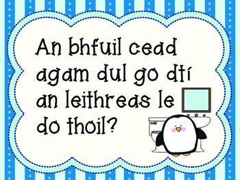 An bhfuil cead agam dul go dtí an leithreas? GAEILGE/IRISH