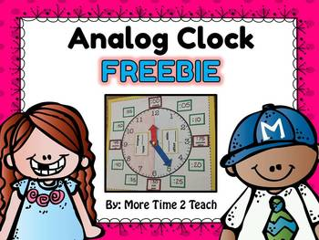 Analog Clock FREEBIE {great for teaching time}