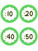 Analog Clock Labels **FREEBIE** Chevron theme  Back To School