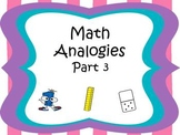 Analogies Part 3 CCSS