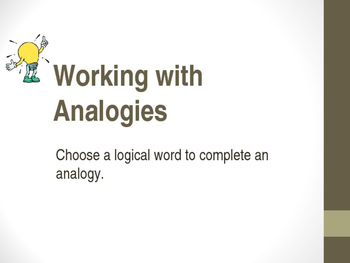Analogies - PowerPoint