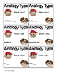 Analogy Types, Figurative Language Center Activity with Ta