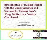 Analyses of Thomas Gray's 'Elegy Written in a Country Chur